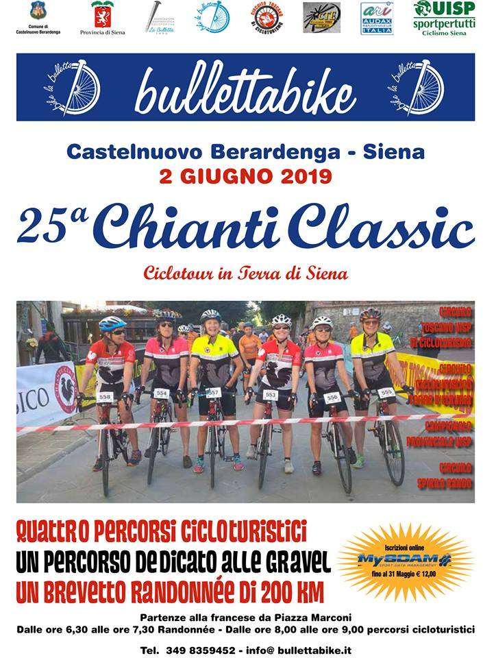 Cycle tourism: Chianti Classic, on 2nd June the quarter century edition